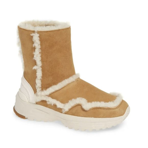 COACH Portia Genuine Shearling Leather Lined Boot